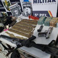 armas-municoes-e-dinheiro-apreendidos-em-nova-bandeirantes